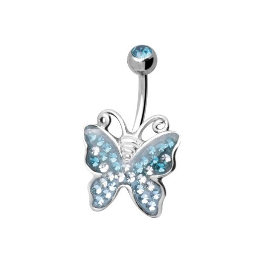 Tribal Piercing AXButterfly C s krystaly Swarovski Elements