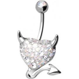 Piercing AXDevilheart B s krystaly Swarovski Elements