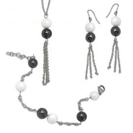 Tribal Set Tribal 011 náhrdelník, náramek a náušnice