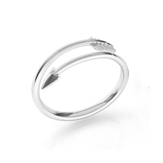 Stříbrný prsten šíp