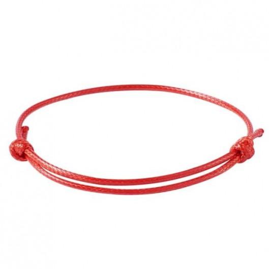 Červená šňůrka na výrobu náramku