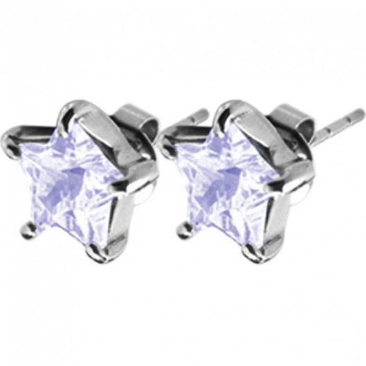 Tribal Naušnice ESSW16 lavender s krystaly Swarovski Elements
