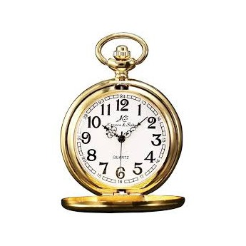 Zlacené kapesní hodinky v dárkovém balení