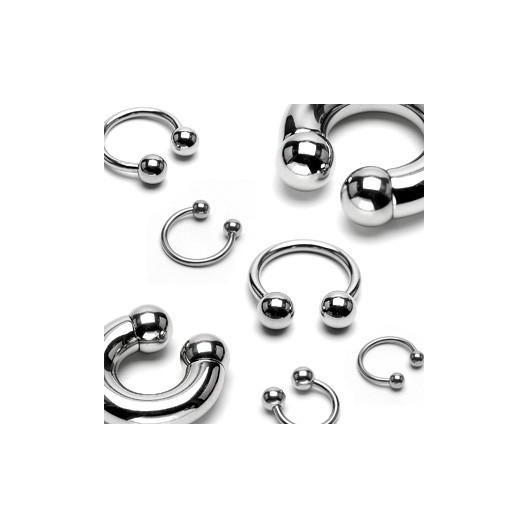 Piercing - podkova 1,2x12 mm, 5 mm kuličky