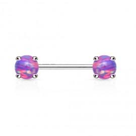 Piercing do bradavky, fialové opály