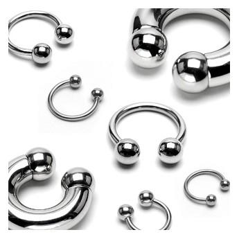 Piercing - podkova 1,2x16 mm, 5 mm kuličky