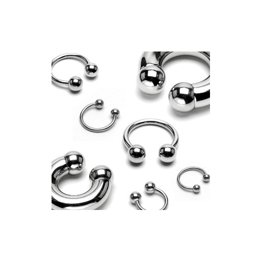 Piercing - podkova 1,2x8 mm, 4 mm kuličky