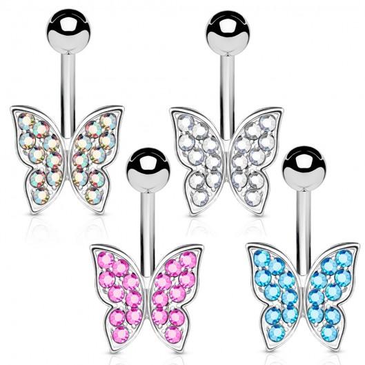 Piercing do pupíku - motýlek