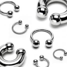 Piercing - podkova 1,6 x10 mm, 5 mm kuličky