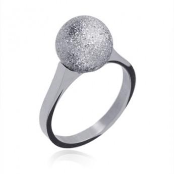 Ocelový prsten - kulička OPR1434