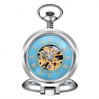 Mechanické kapesní hodinky otevírací - cibule