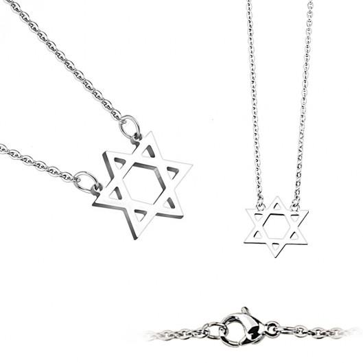 Ocelový náhrdelník - Davidova hvězda