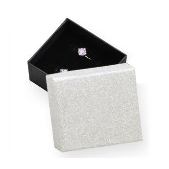 Dárková krabička stříbrná/černá