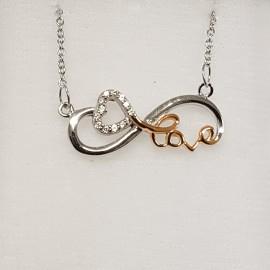 Stříbrný náhrdelník se symbolem nekonečna