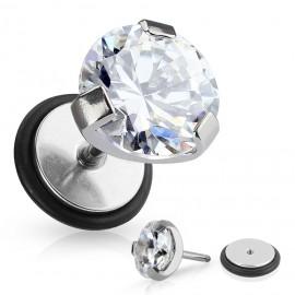 Falešný piercing - čirý kámen
