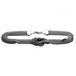 Dámský ocelový náhrdelník - uzel