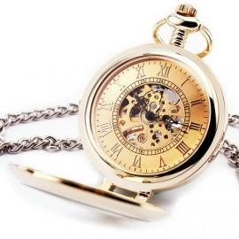 Zlacené mechanické kapesní hodinky otevírací - cibule 3b0c72d7c27