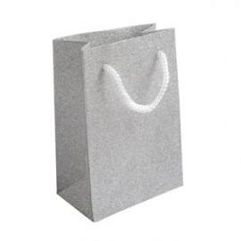Malá dárková taška stříbrná
