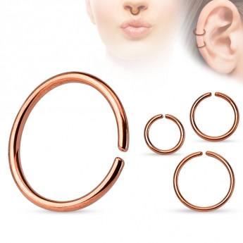 Piercing do nosu - kruh zlacený