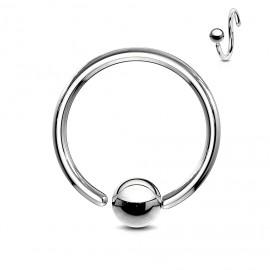 Piercing - kruh s kuličkou - rozevíratelný