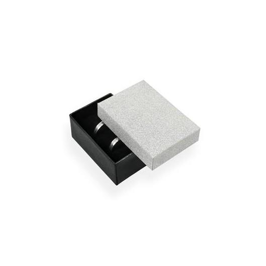 Dárková krabička na snubní prsteny stříbná/černá