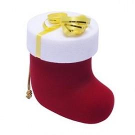 Vánoční dárková krabička na prsten - Santova bota