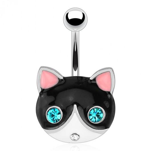 Piercing do pupíku - kočka
