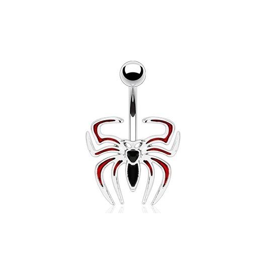 Piercing do pupíku - pavouk