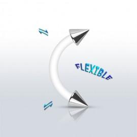 Piercing do obočí BioFlex - hroty
