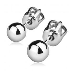 Stříbrné náušnice pecky 4 mm