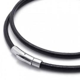 Kožený náhrdelník - ocelový uzávěr, tl. 5 mm