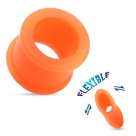 Tunel do ucha ze silikonu oranžový