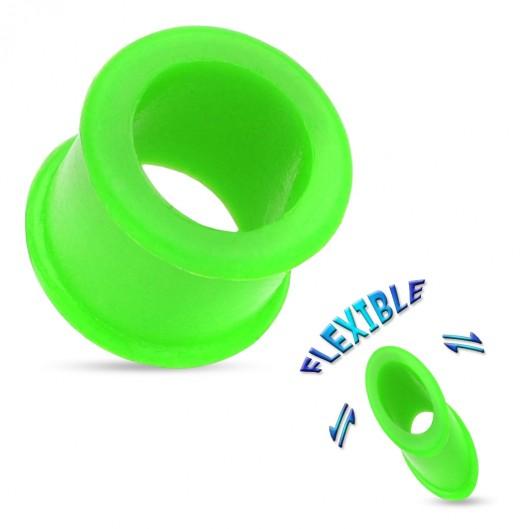 Tunel do ucha ze silikonu zelený