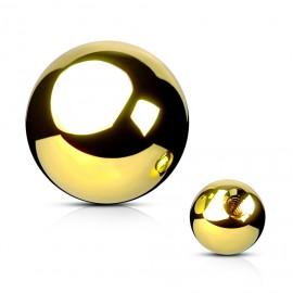 Ocelová náhradní kulička 1,2 x  3 mm, barva žluté zlato