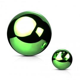 Ocelová náhradní kulička 1,2 x  3 mm, barva zelená