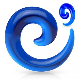 Roztahovák do ucha - spirála modrá