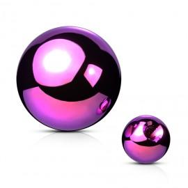 Ocelová náhradní kulička 1,2 x  3 mm, barva fialová
