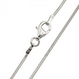Stříbrný řetízek - had 1 mm, délka 45 cm