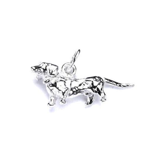 Stříbrný přívěšek pes jezevčík
