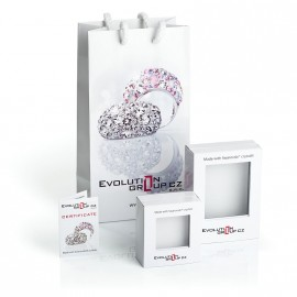 Stříbrné náušnice kruhy s krystaly Crystals from Swarovski®, Magic Rose