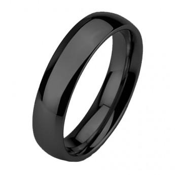 ae7cb1e1b Wolframový prsten černý, šíře 6 mm Wolframové šperky
