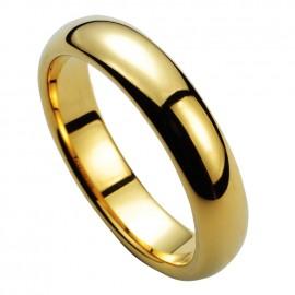 Wolframový prsten zlacený, šíře 5 mm