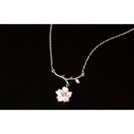 Stříbrný náhrdelník sakura