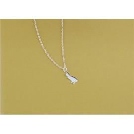 Stříbrný náhrdelník kočička