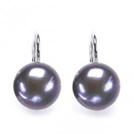 Stříbrné náušnice přírodní perly 10 mm