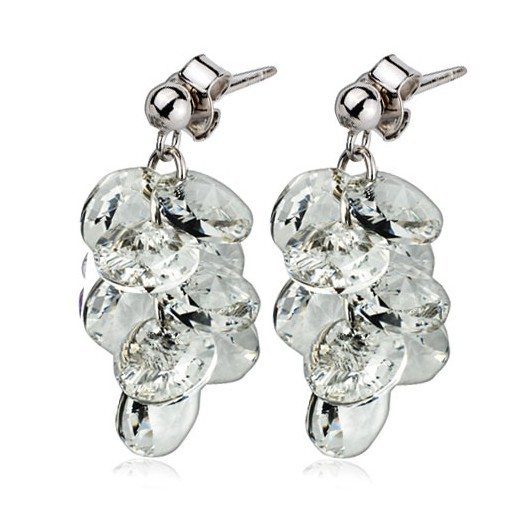 Stříbrné náušnice s krystaly Crystals from Crystals from Swarovski® 3e472656e51