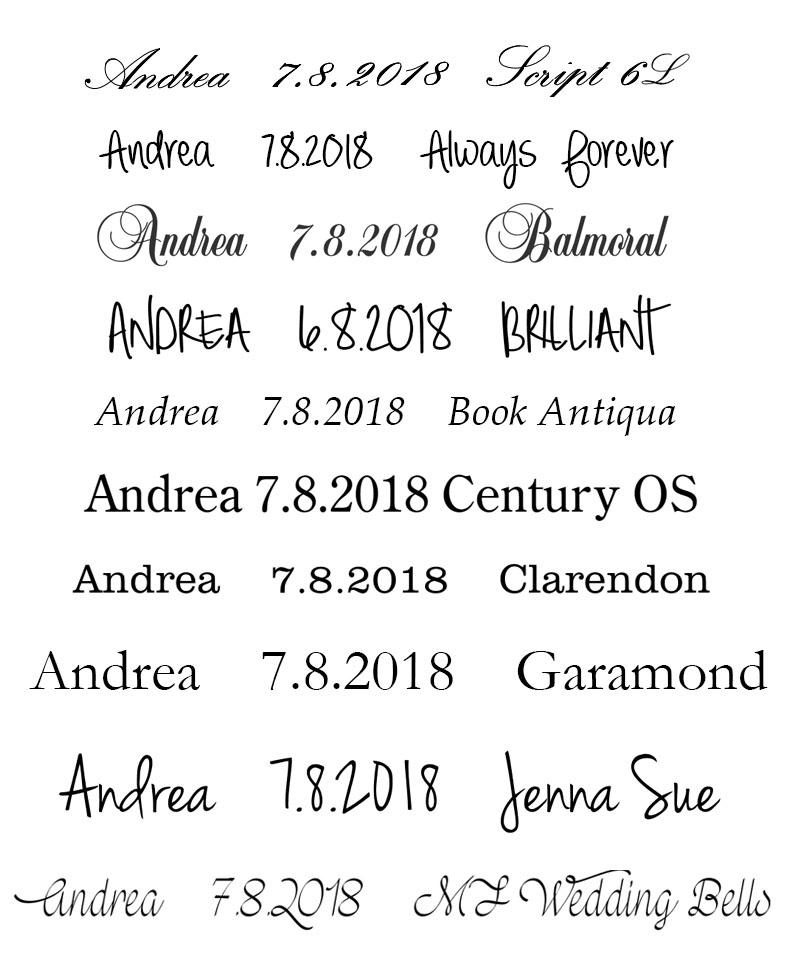 Písma (fonty) pro rytí do šperků